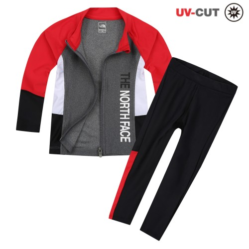 K'S ZIP UP RASHGUARD SET