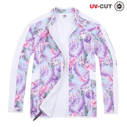 W'S FLORAL ZIP-UP RASHGUARD