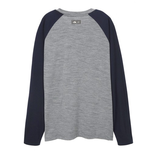 M'S TECH WOOL RAGLAN L/S R/TEE SP