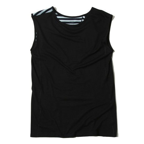 W'S TECH WOOL SLEEVELESS R/TEE SP