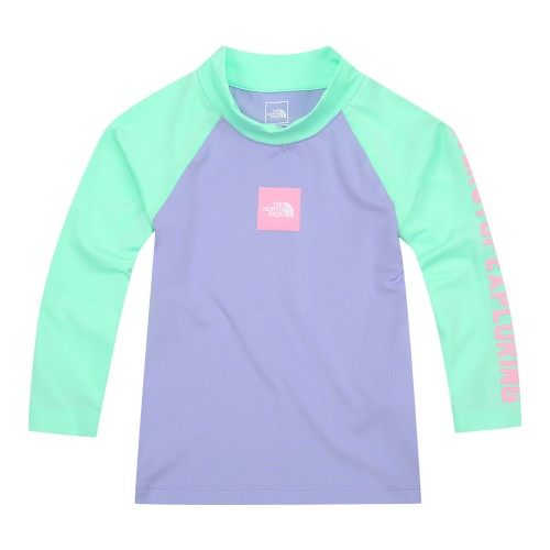 K'S SQUARE LOGO COLOR BLOCK RASHGUARD SET
